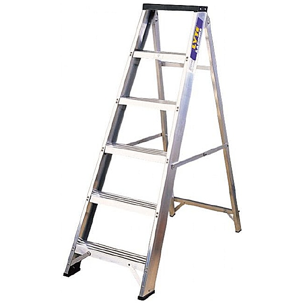 Lyte Industrial Swingback Aluminium Step Ladders