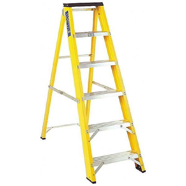 Lyte Glass Fibre Trade Swingback Step Ladders