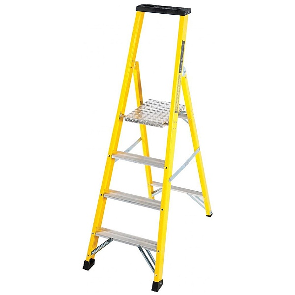 Trade Fibreglass Platform Step Ladders