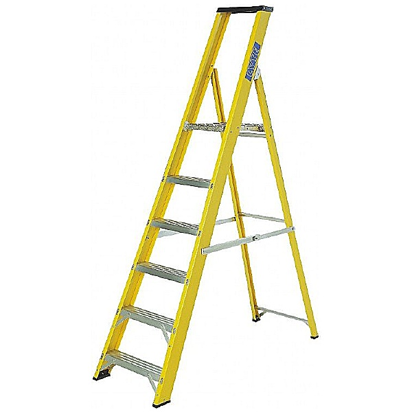 Lyte Glass Fibre Trade Platform Step Ladders