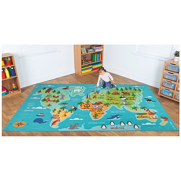 Animals And Places Of The World Carpet