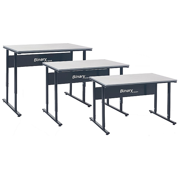 Binary Manual Height Adjustable Workbenches - Laminate Worktop