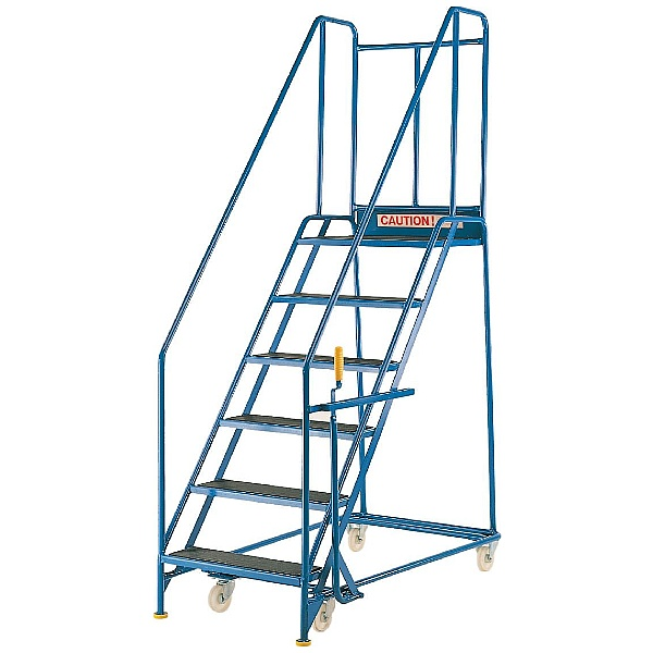 Steptek Quality Blue Range Mobile Steps - 760Wmm Treads