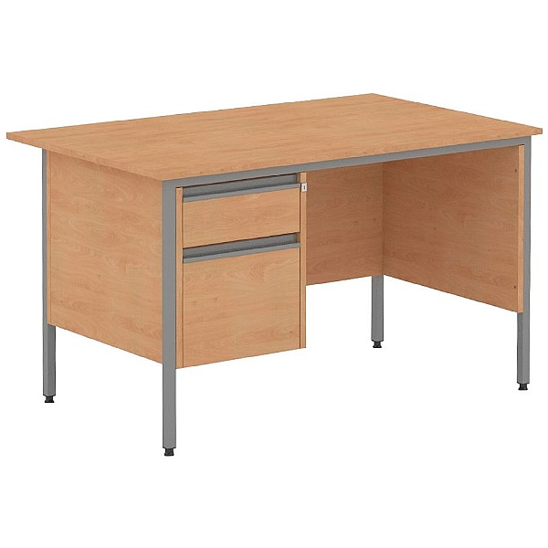 Nova Contract Rectangular H Leg Single Pedestal Desks