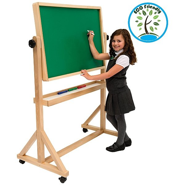Little Acorns Tilt 'N' Teach Mobile Whiteboard / Chalkboards
