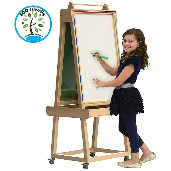 Little Acorns Solid Wood Play 'N' Learn Whiteboard / Chalkboards