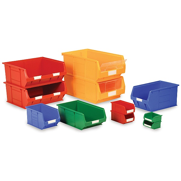 Topstore Value Plastic Mixed Colour Bin Packs