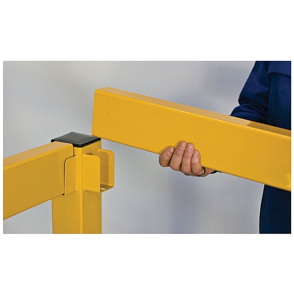 Lift Out Modular Single Rail Barriers