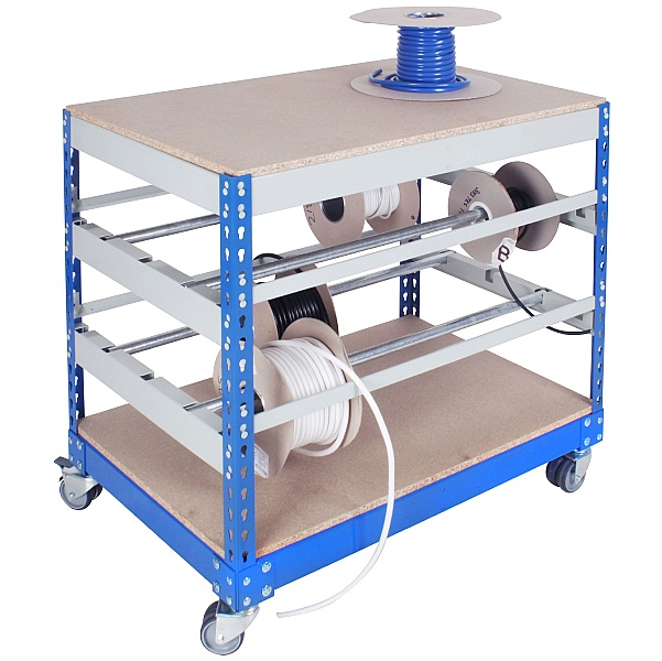 Mobile Bench Reel Storage Organiser