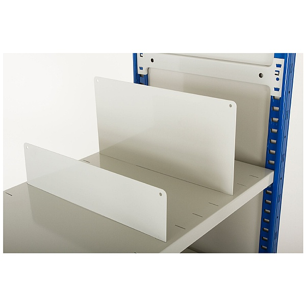 Slot-in Dividers for Clip-Fit Boltless Slotted Shelving System