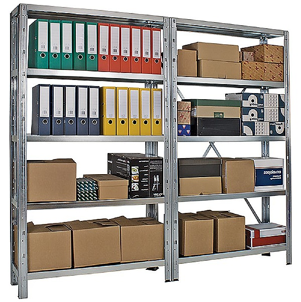 Extra Wide Galvanised Budget Boltless Shelving System
