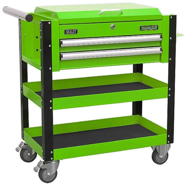 Sealey Heavy Duty Mobile Tool Trolley with Lockable Top