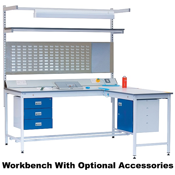 ESD Square Tube Workbench - Lamstat Worktop