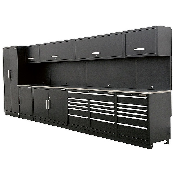 Sealey Complete Modular Workshop Combination with Stainless Steel Worktop