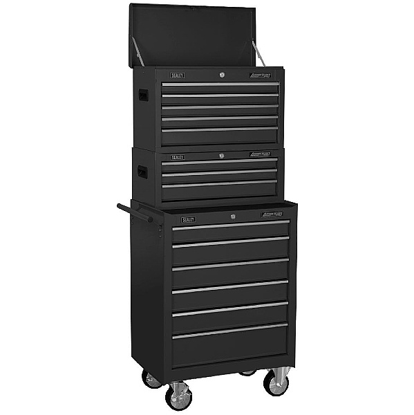 Sealey Topchest, Mid-Box & Rollcab 14 Drawer Stack