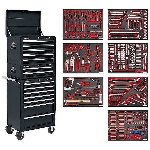 Sealey Platinum 14 Drawer Tool Chest Combination with 446pc Premier Tool Kit
