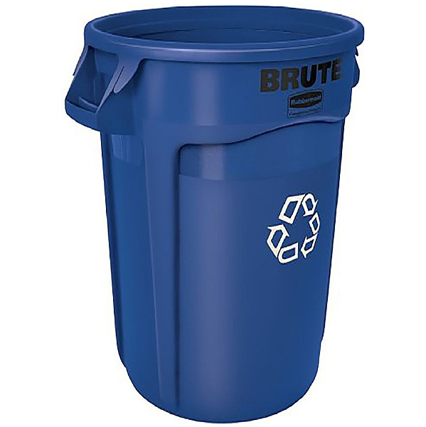 Brute Blue Recycling Waste Containers