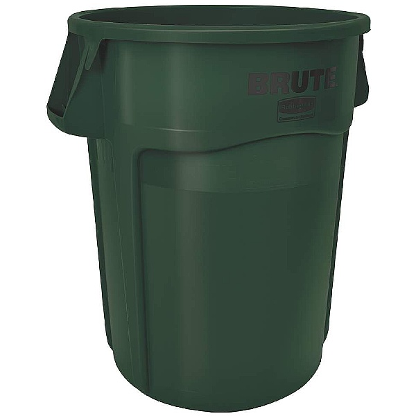 Brute Round Waste Containers Dark Green