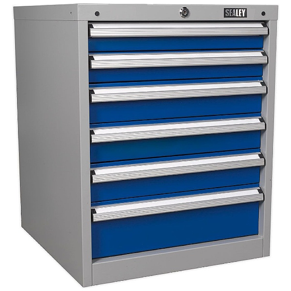 Sealey 6 Drawer Industrial Cabinet - 565W x 580D x 700H