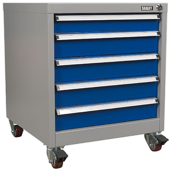Sealey 5 Drawer Mobile Industrial Cabinet - 565W x 580D x 675H - Model A