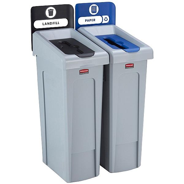 Slim Jim Recycling Station 2 Stream Bin Kit