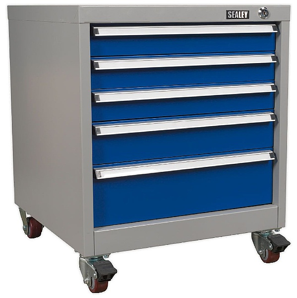 Sealey 5 Drawer Mobile Industrial Cabinet - 565W x 580D x 700H - Model B