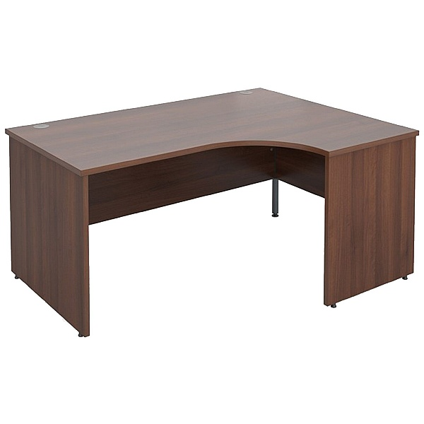 Malbec II Walnut Panel End Ergonomic Desks