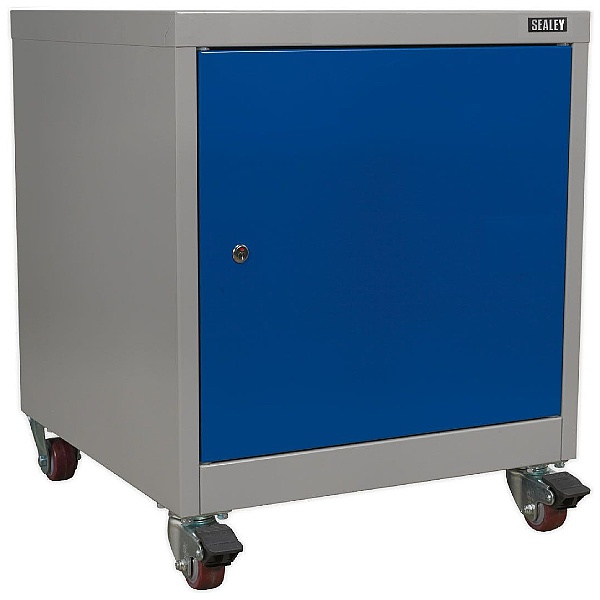 Sealey Mobile Industrial 1 Shelf Lockable Cabinet - 565W x 580D x 675H