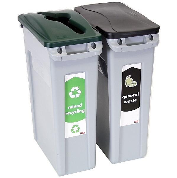 Slim Jim Vented Recycling Bin Starter Packs