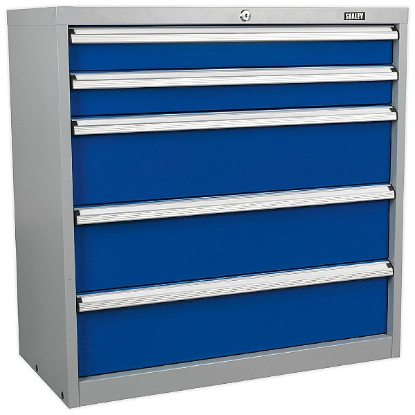 Sealey 5 Drawer Industrial Cabinet - 900W x 450D x 900H - Model C