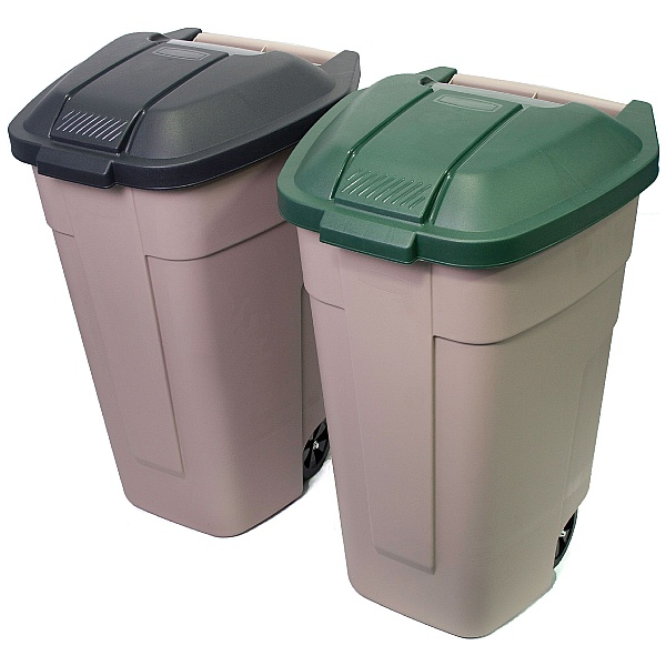 Mobile Wheeled Waste Container with Coloured Lid