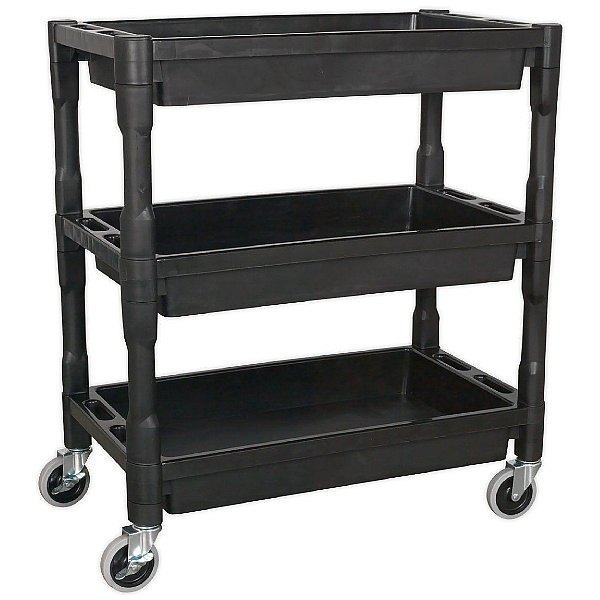 Sealey Heavy Duty 2 Level Composite Workshop Trolley with 60Kg Shelf Capacity