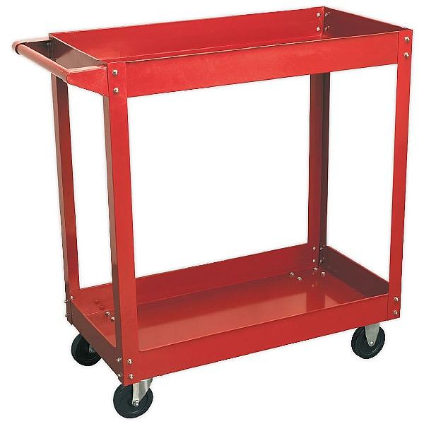 Sealey Heavy Duty Workshop Trolley - 2 Level - Red
