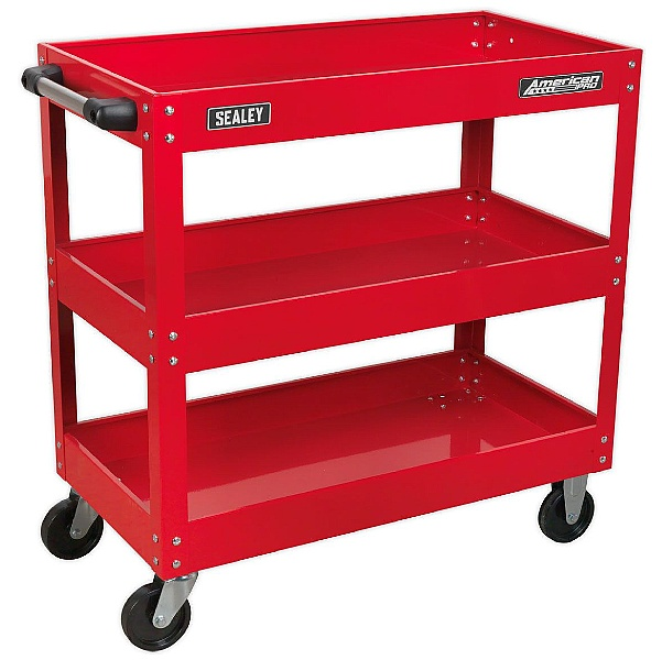 Sealey Heavy Duty Workshop Trolley - 3 Levels - Red
