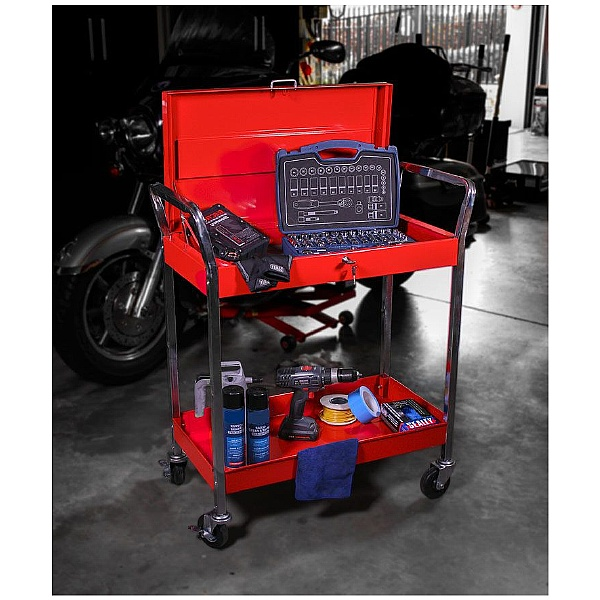 Sealey Heavy Duty Workshop Trolley With Lockable Top