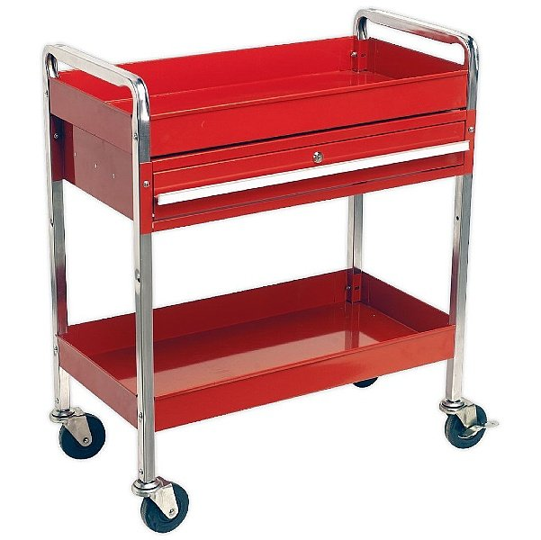 Sealey 2-Level Trolley With Lockable Drawer