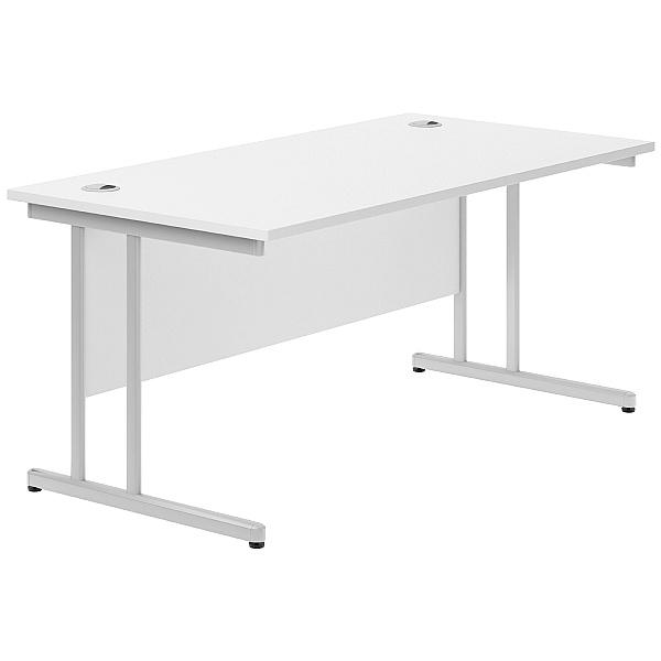 Next Day Polar Cantilever Rectangular Desks