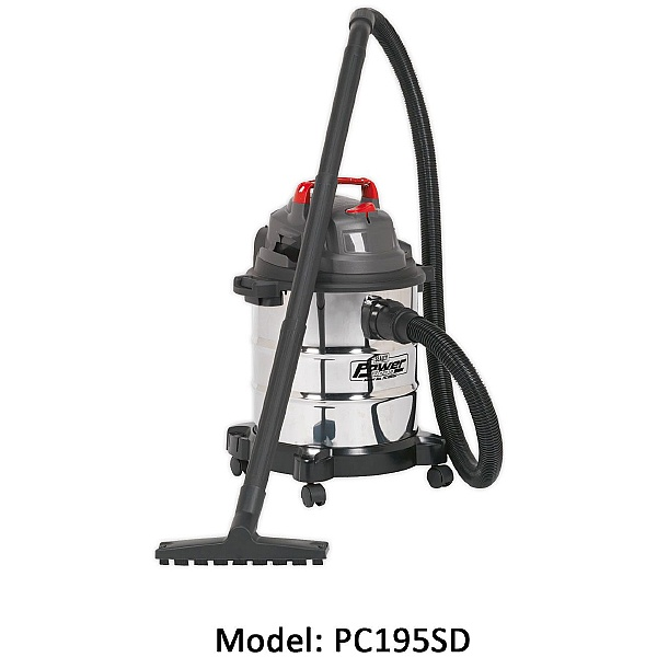 Sealey Stainless Steel Power Clean Wet & Dry Vacuums