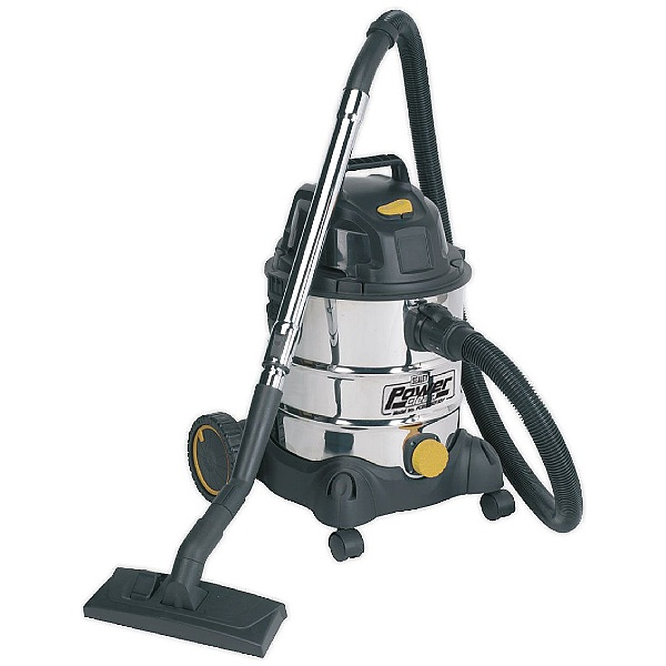 Sealey PC200SD110V 110V 1250W Power Clean Stainless Steel Wet & Dry Vacuum