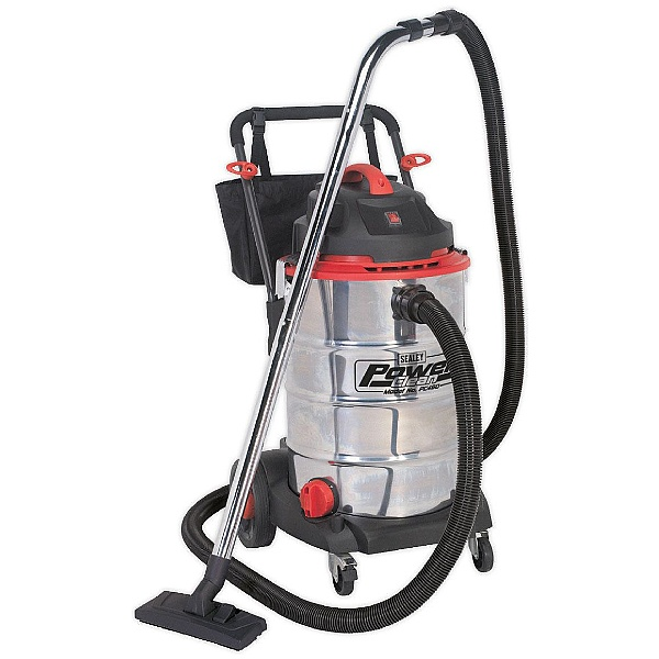 Sealey PC460 60L 1600W/230V Stainless Steel Power Clean Wet & Dry Vacuum