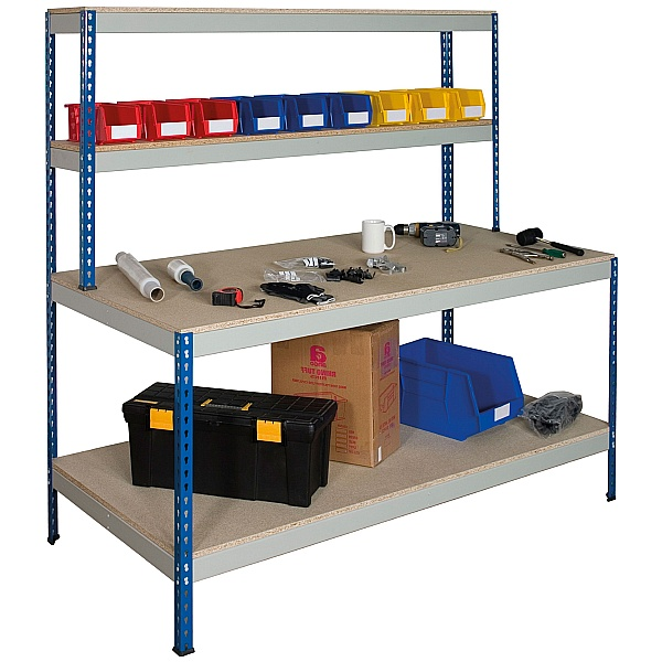Value Rivet Workstation with Full Lower Shelf