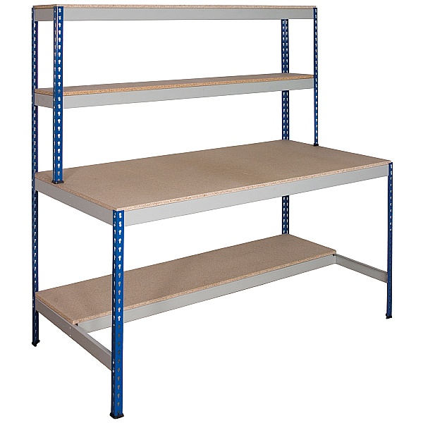 Value Rivet Workstation with Half Lower Shelf
