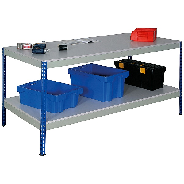 Value Rivet Workbench with Full Lower Shelf