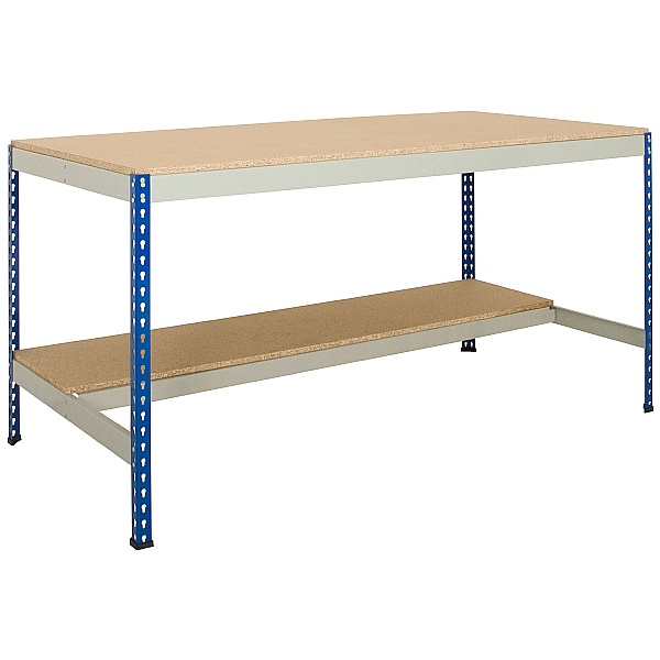 Value Rivet Workbench with Half Lower Shelf