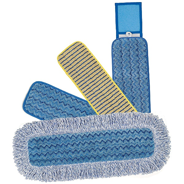 Rubbermaid Hygen Microfibre Damp Mops - Pack of 10