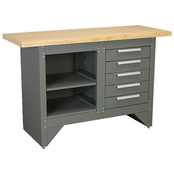 Sealey Heavy Duty 5 Drawer Workbench