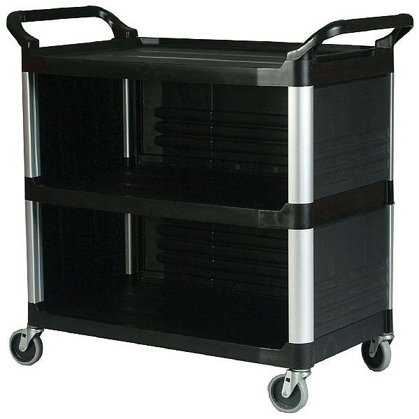 X-tra Utility Trolley Partially Closed with 3 Shelves