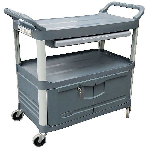 X-tra Utility Trolley with Drawer and Cupboard