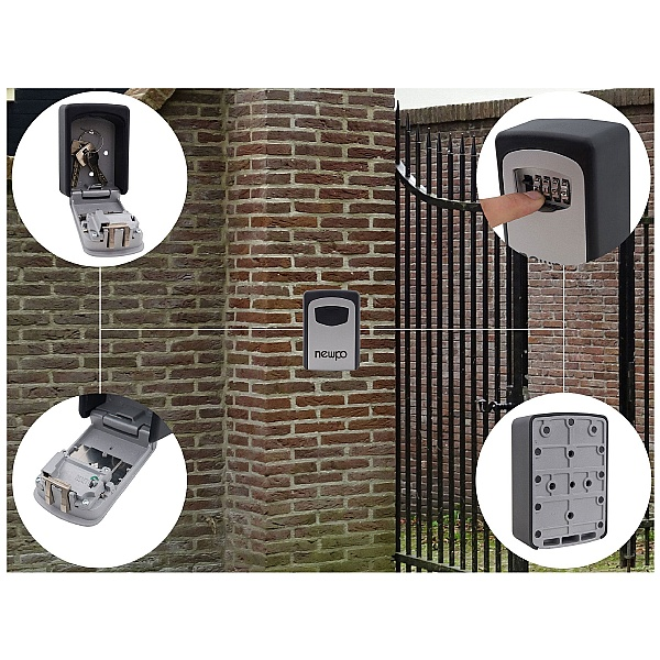 Newpo Wall Mounted Spare Key Safe With Combination Lock