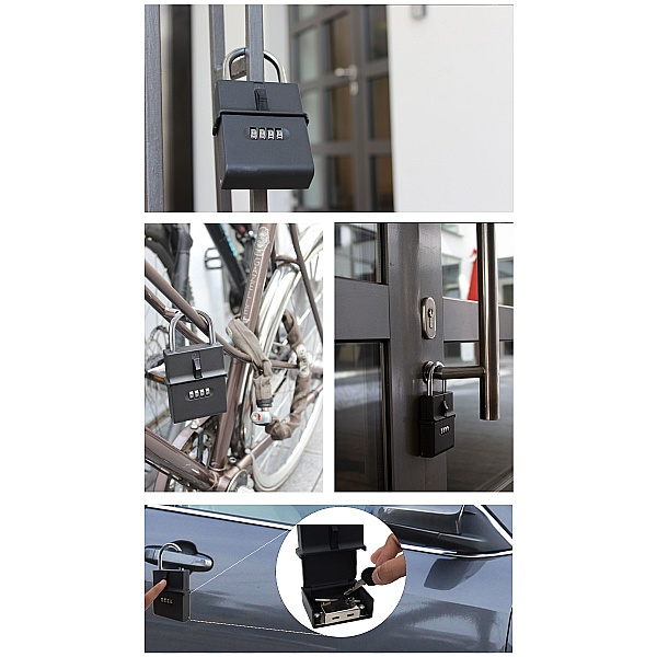 Newpo Portable Key Safe with Combination Lock